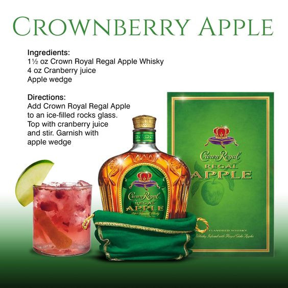 Crown Apple Drinks Recipes  Crown royal Apples and Crowns on Pinterest