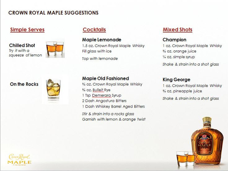Crown Apple Drinks Recipes  1000 images about Maple Crown Royal Recipes on Pinterest