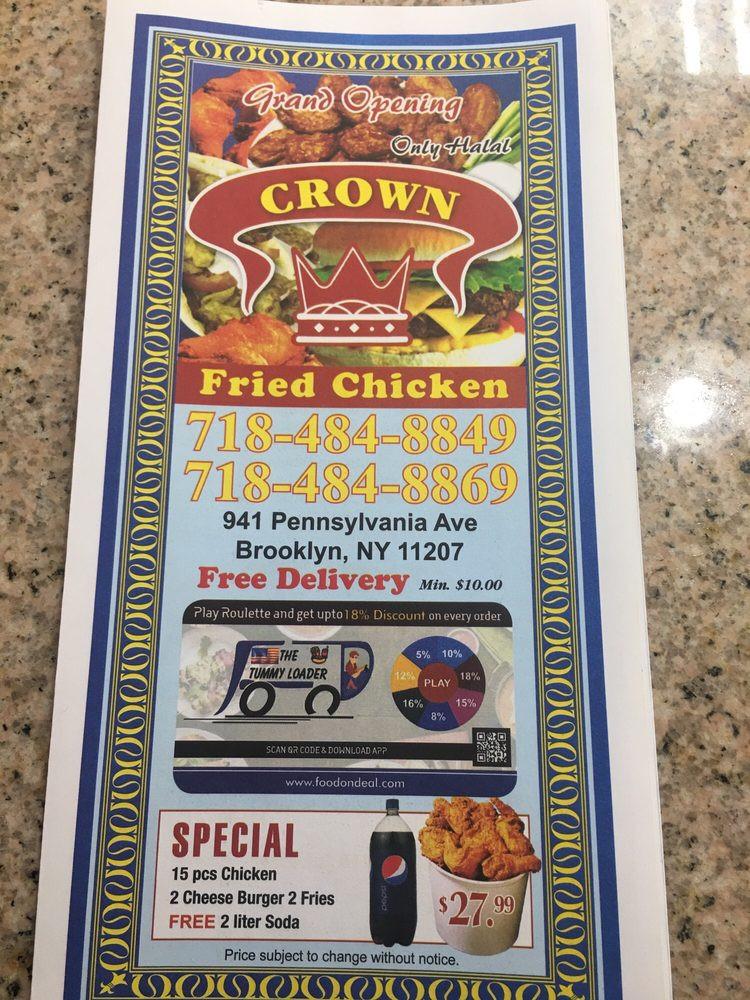 Crown Fried Chicken Menu  Crown Fried Chicken 119 s Chicken Wings 941