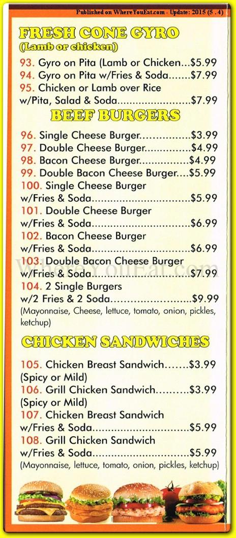 Crown Fried Chicken Menu  Crown Fried Chicken Chicken Halal Restaurant in Arlington