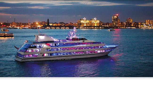 Cruise Dinner Nyc  New York Sights & Toast Cruise aboard luxury Yacht with