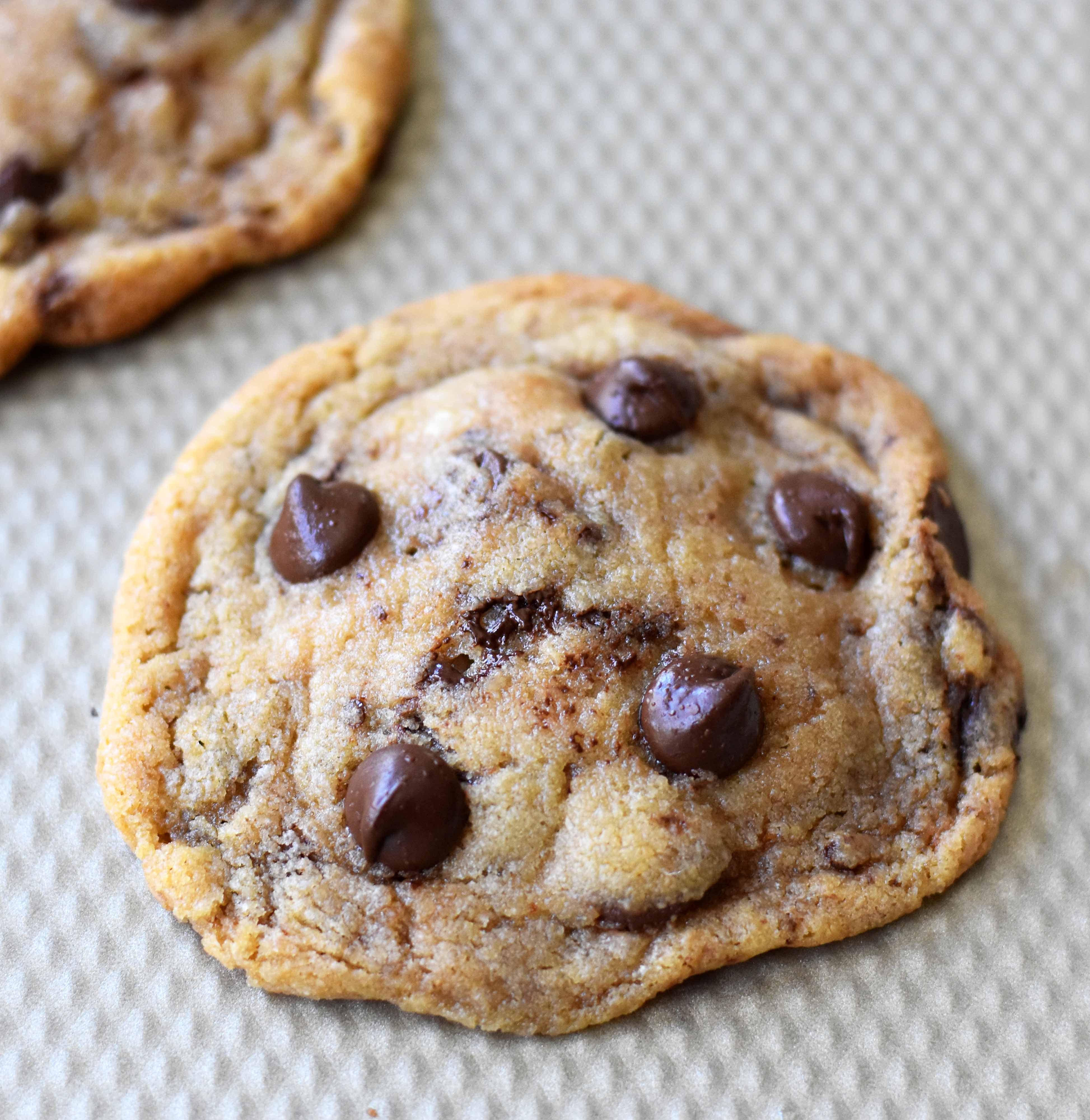 Crunchy Chocolate Chip Cookies  Thin and Crispy Chocolate Chip Cookies