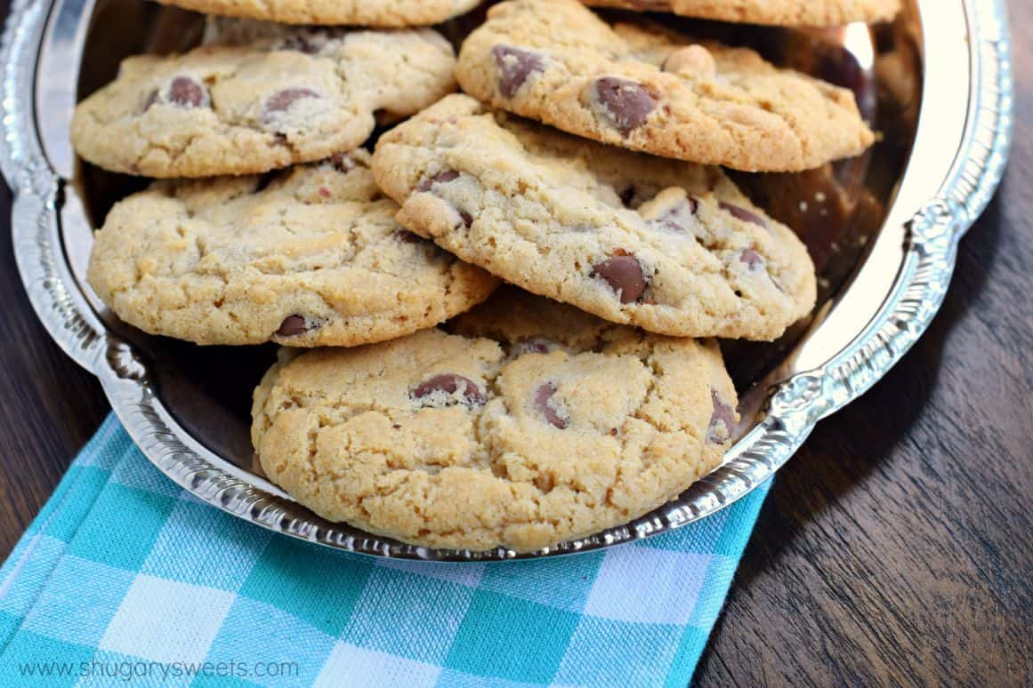 Crunchy Chocolate Chip Cookies  Perfect Chocolate Chip Cookies Shugary Sweets