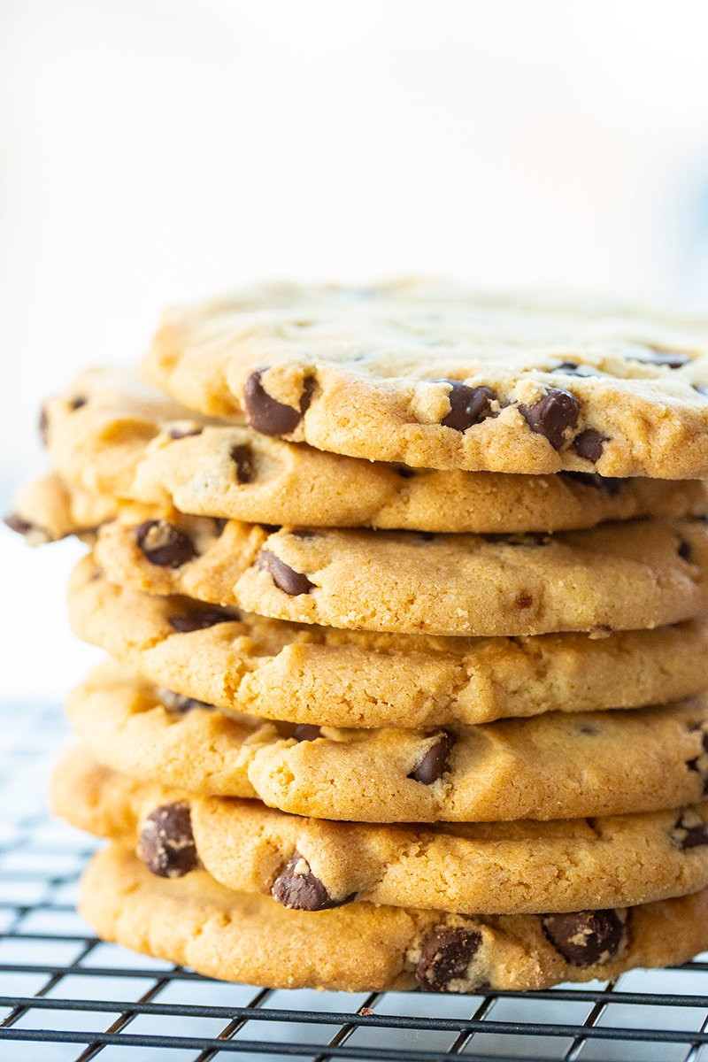 Crunchy Chocolate Chip Cookies  Crispy Chocolate Chip Cookie Recipe The Kitchen Magpie