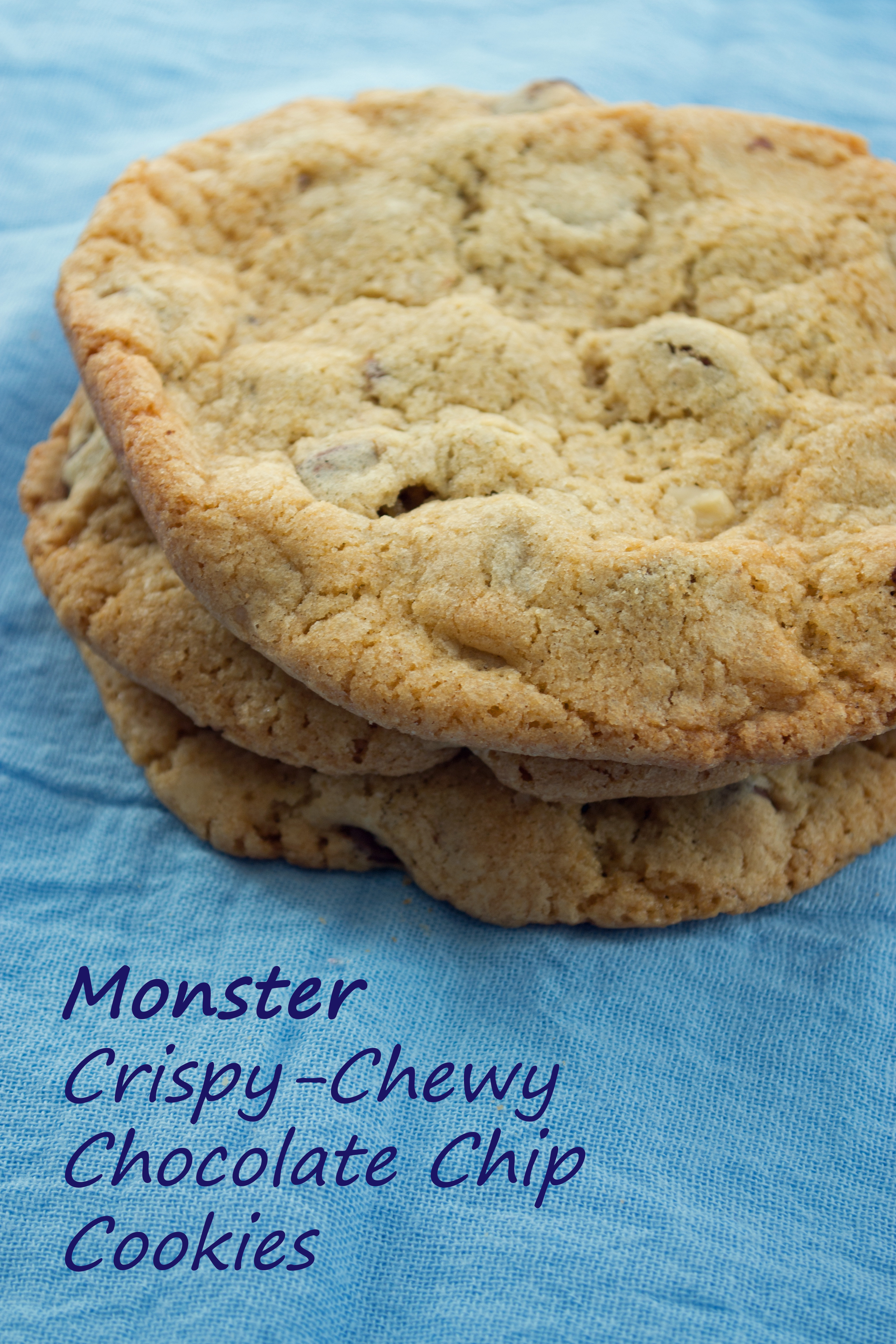 Crunchy Chocolate Chip Cookies  Monster Size Crispy Chewy Chocolate Chip Cookies