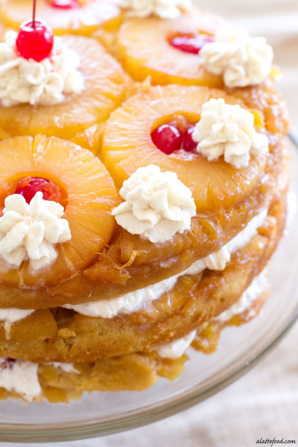 Crushed Pineapple Upside Down Cake  Triple Layer Pineapple Upside Down Cake