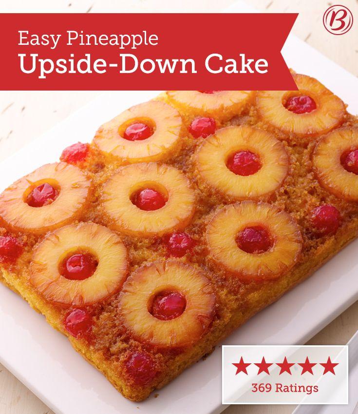 Crushed Pineapple Upside Down Cake  Easy Pineapple Upside Down Cake Recipe