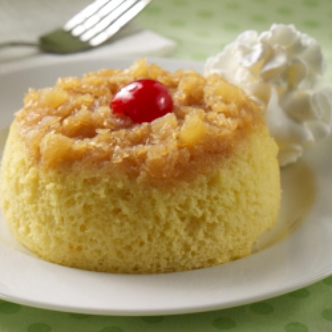 Crushed Pineapple Upside Down Cake  Pineapple Upside Down Mug Cakes Recipe