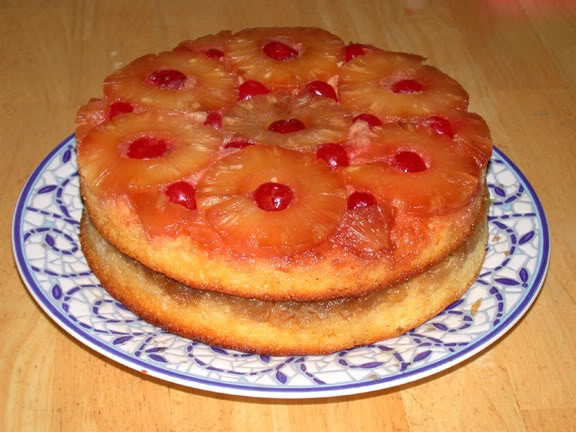 Crushed Pineapple Upside Down Cake  Double Layer Pineapple Upside Down Cake