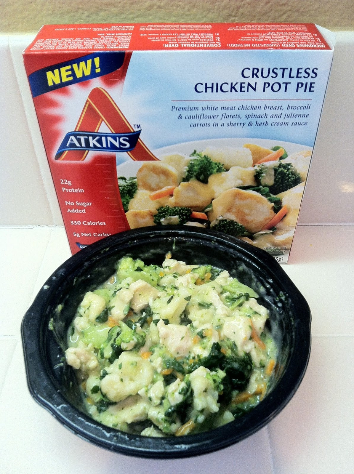 Crustless Chicken Pot Pie  Low Carb Layla Atkins Crustless Chicken Pot Pie Review