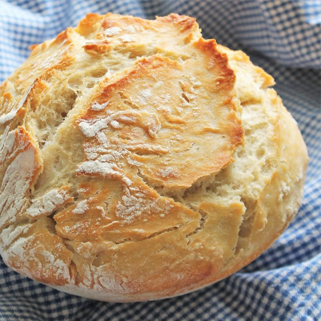 Crusty Bread Recipe  Crusty Bread No Knead and Baked in a Bowl – My Recipe