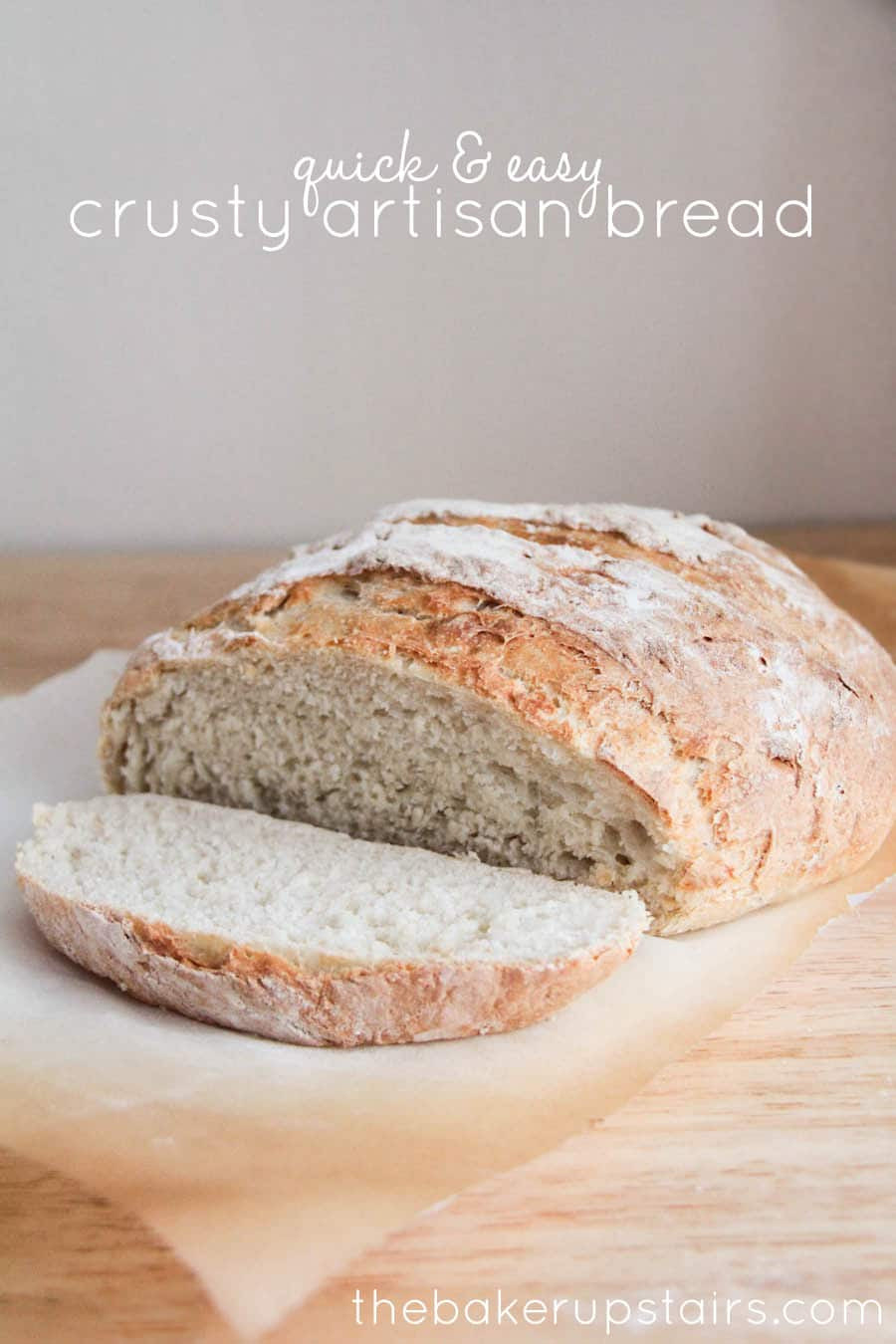 Crusty Bread Recipe  Quick and Easy Crusty Artisan Bread Somewhat Simple
