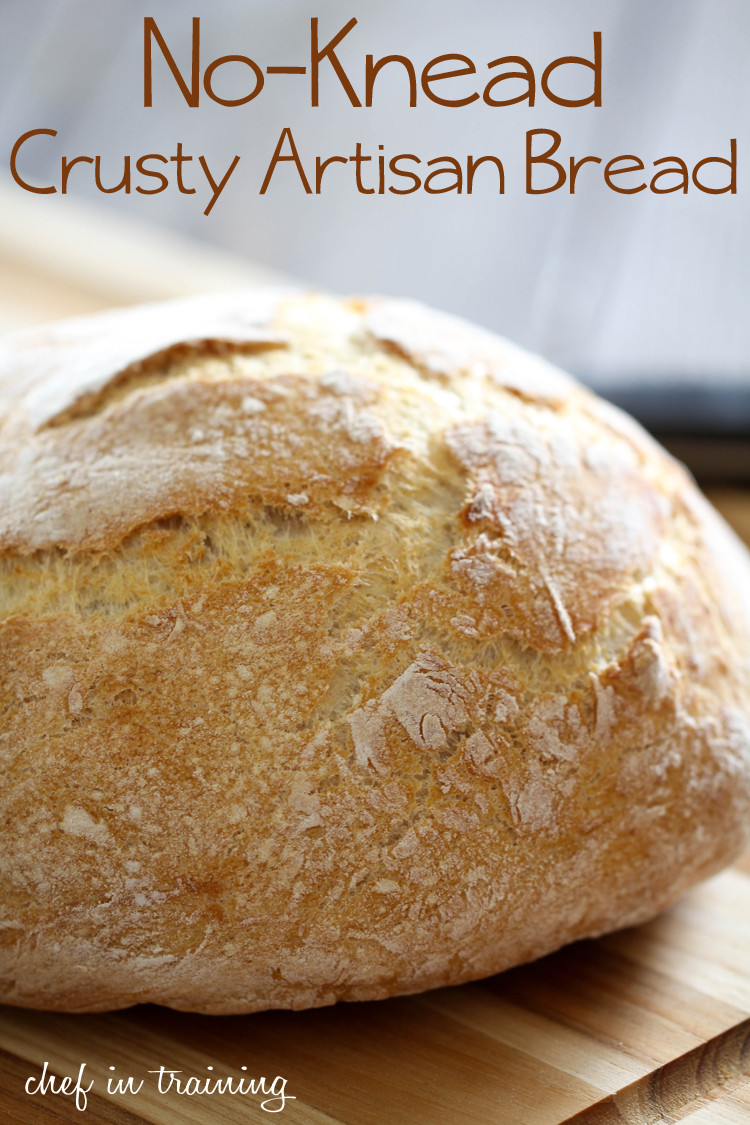 Crusty Bread Recipe  No Knead Crusty Artisan Bread Chef in Training