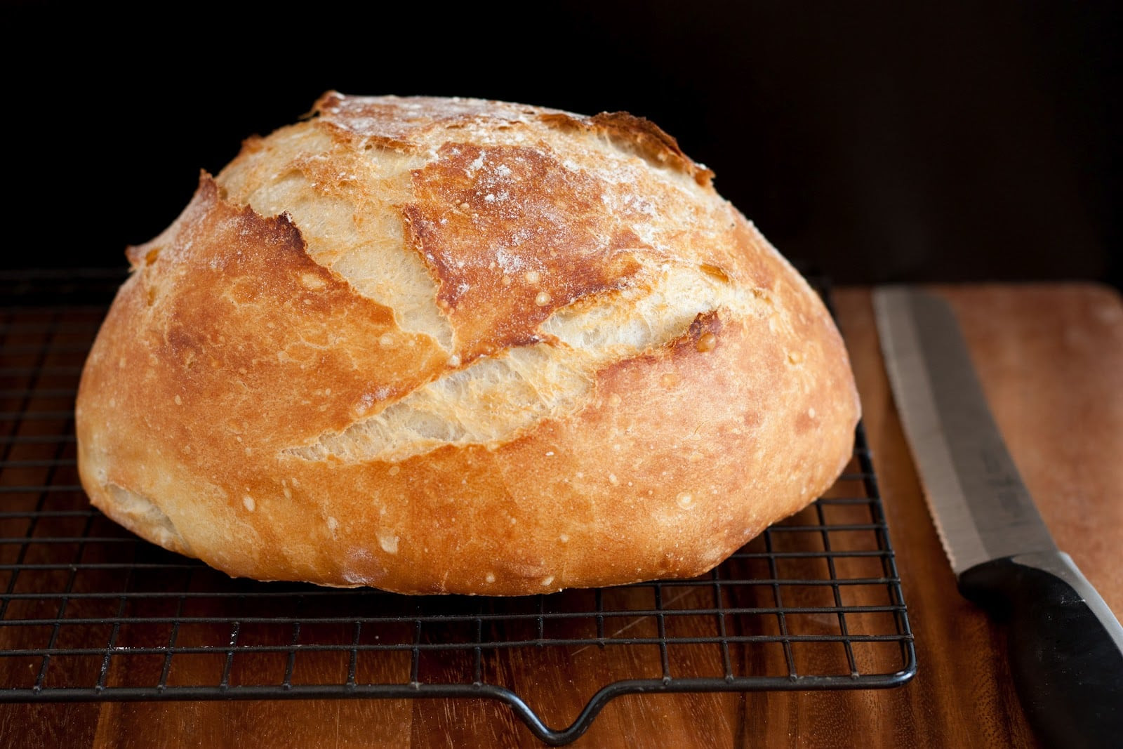 Crusty Bread Recipe  Crusty Rustic Bread It s No Knead  Cooking Classy