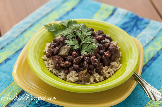 Cuban Black Beans And Rice  Slow Cooker Cuban Style Black Beans Recipe with Rice
