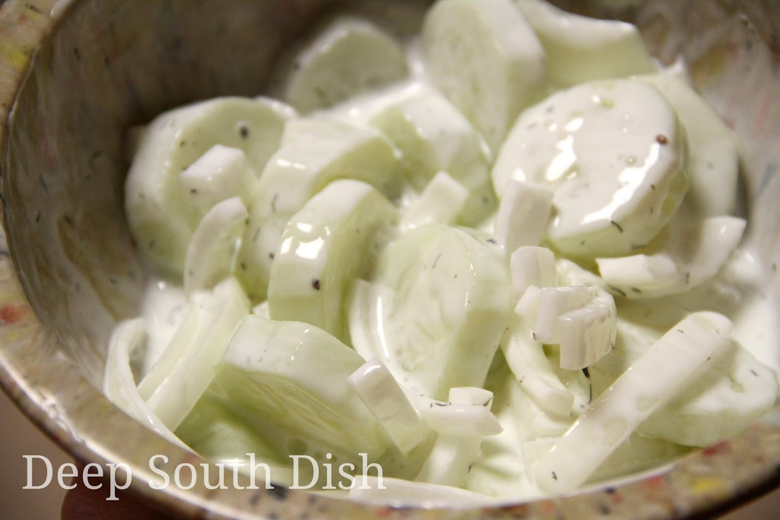 Cucumber Onion Salad  Deep South Dish Sour Cream Cucumber and ion Salad
