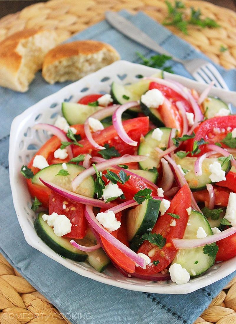 Cucumber Onion Tomato Salad  Easy Tomato Cucumber and Red ion Salad