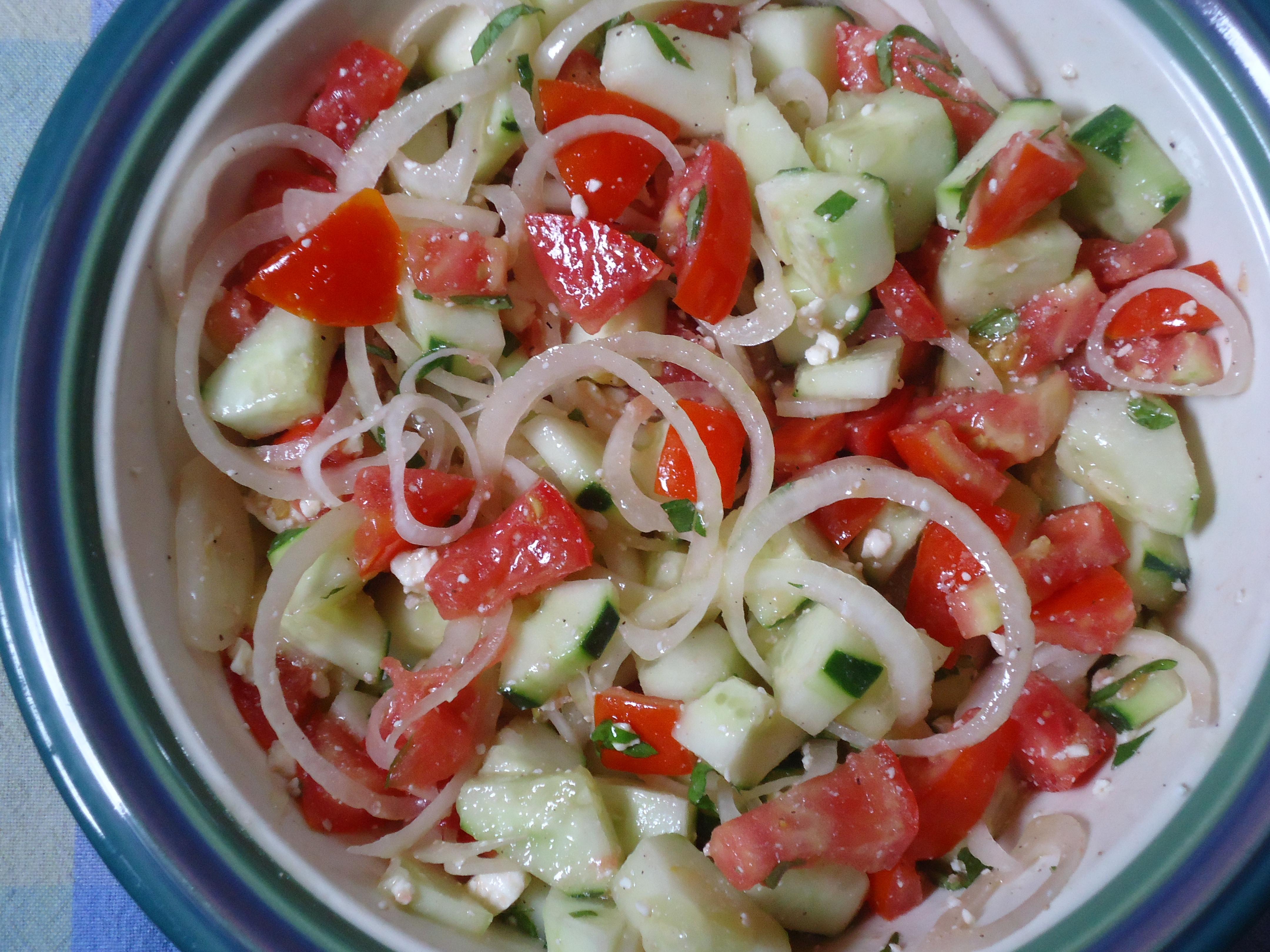 Cucumber Onion Tomato Salad  Tomato Cucumber and ion Salad
