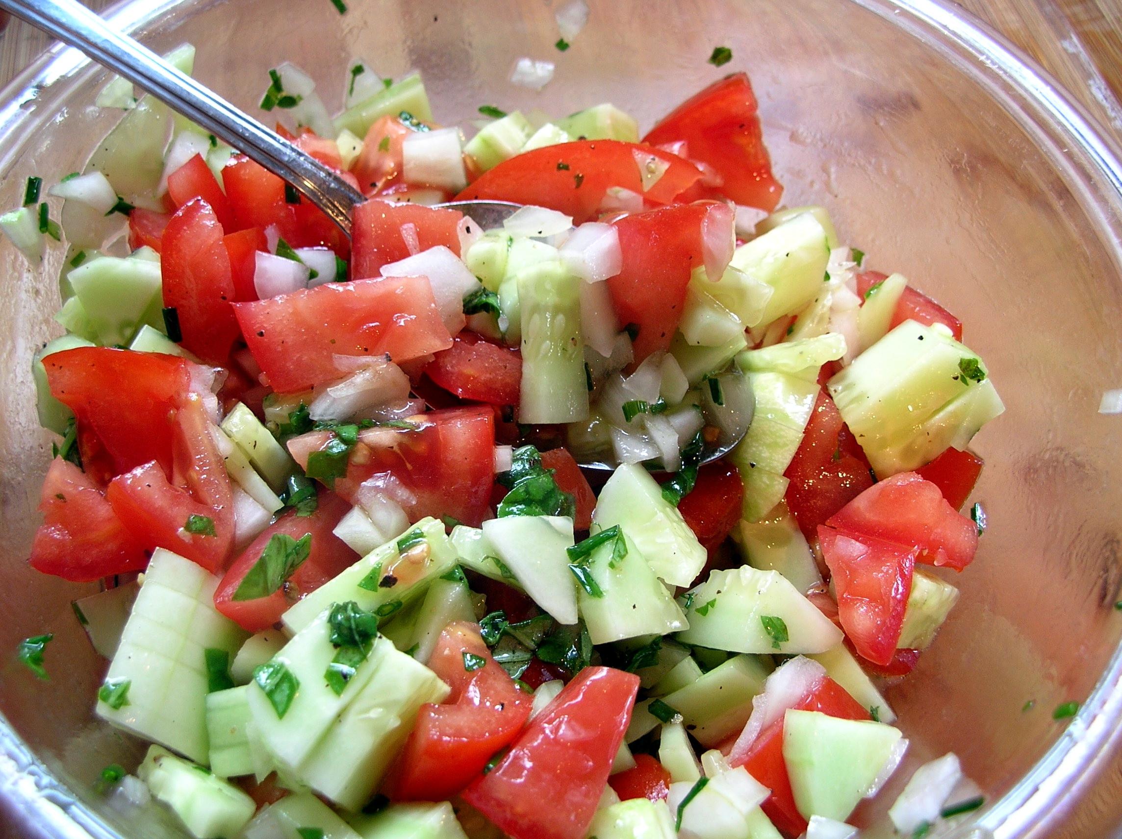 Cucumber Onion Tomato Salad  Tomato Cucumber Salad