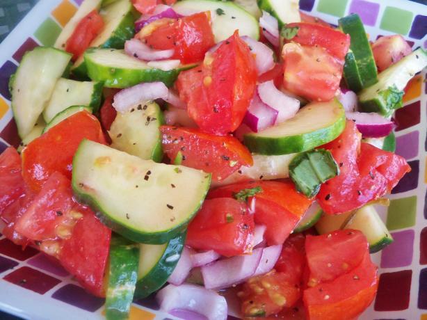 Cucumber Onion Tomato Salad  Tomato Cucumber And Red ion Salad Recipe Food
