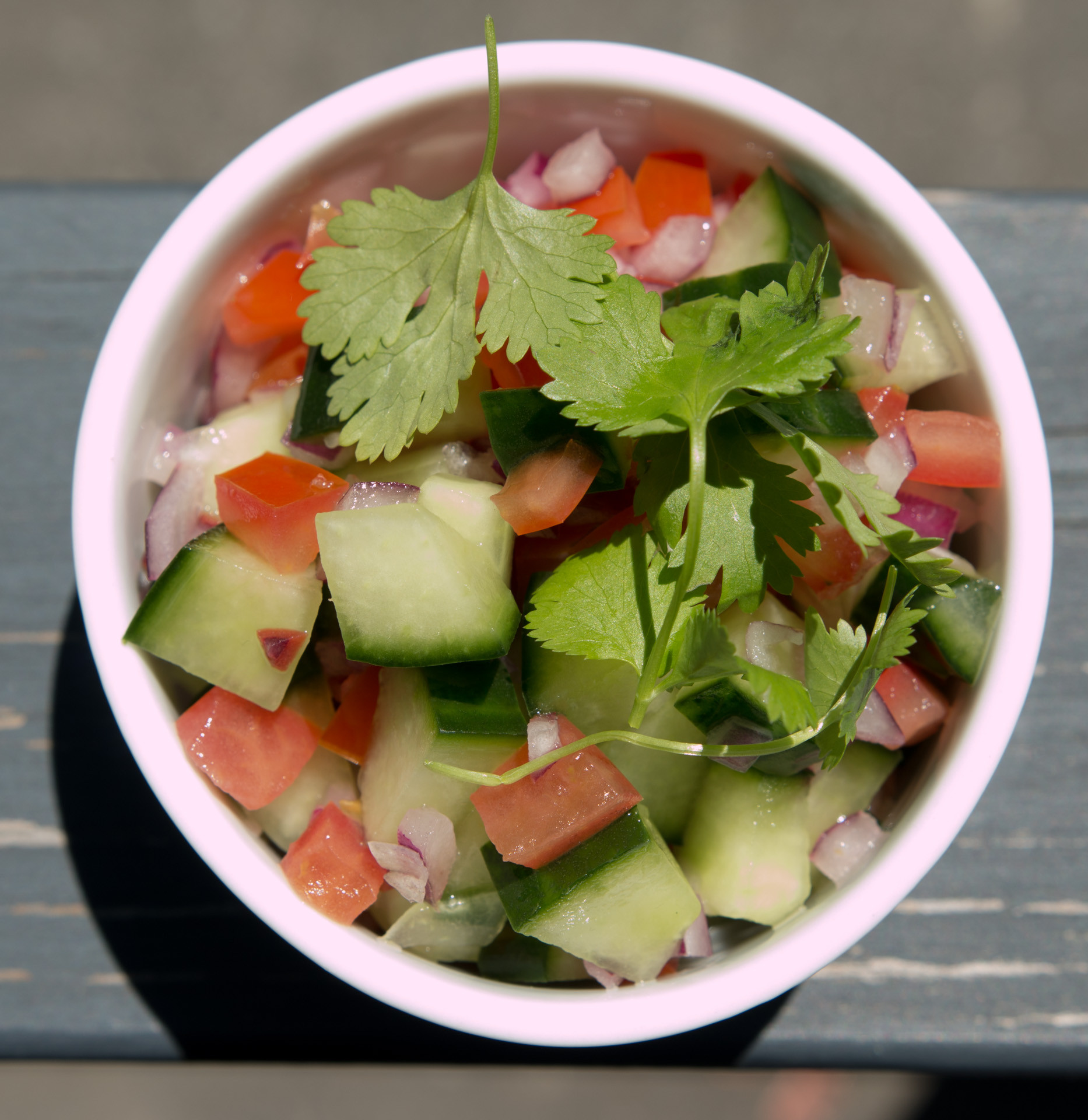 Cucumber Onion Tomato Salad  EkantCookCurry