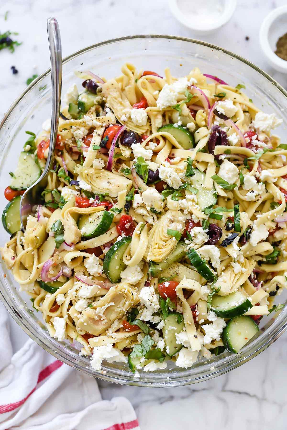Cucumber Pasta Salad  cucumber pasta salad