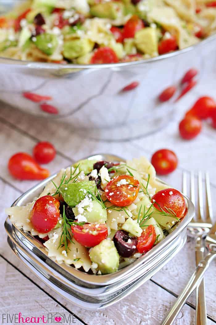 Cucumber Pasta Salad  Tomato Cucumber Pasta Salad with Avocado