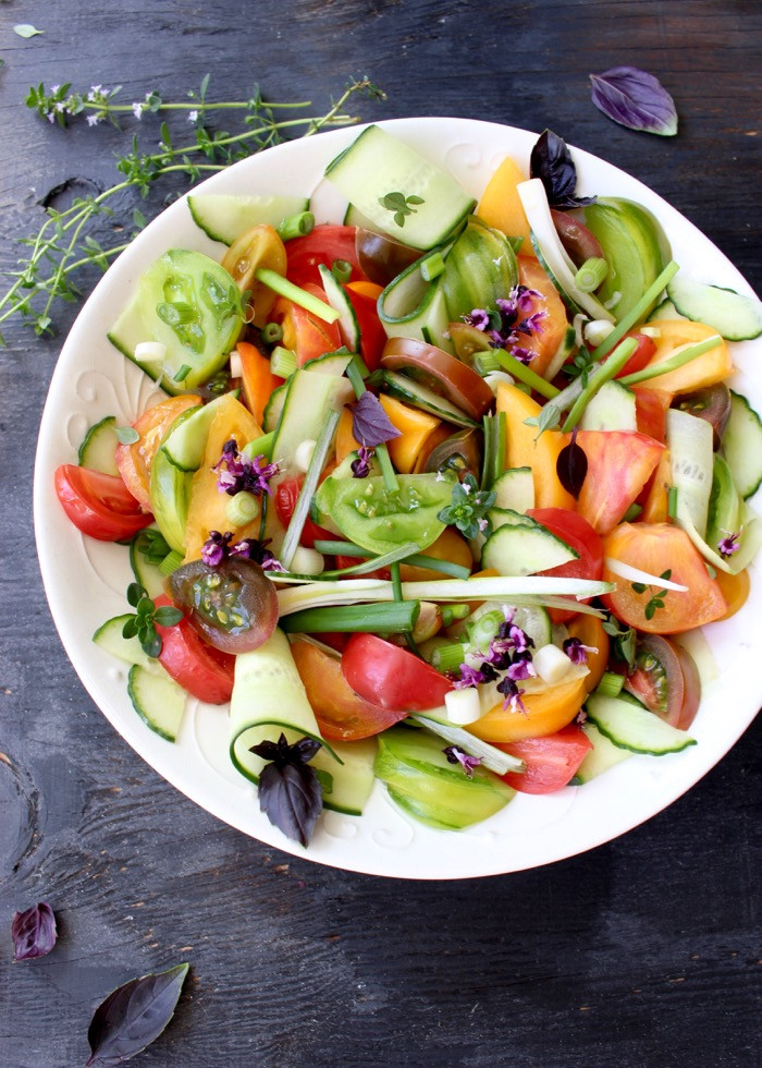 Cucumber Tomato Salad Recipe  Cucumber Tomato Salad Recipe Video • CiaoFlorentina