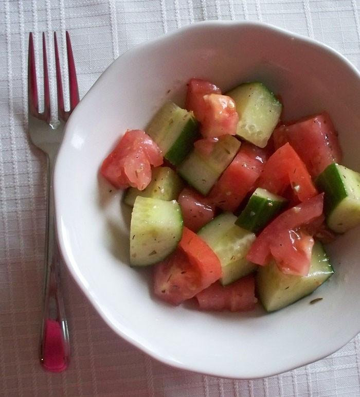 Cucumber Tomato Salad Recipe  Summer Salad Recipe Cucumber and Tomato Salad