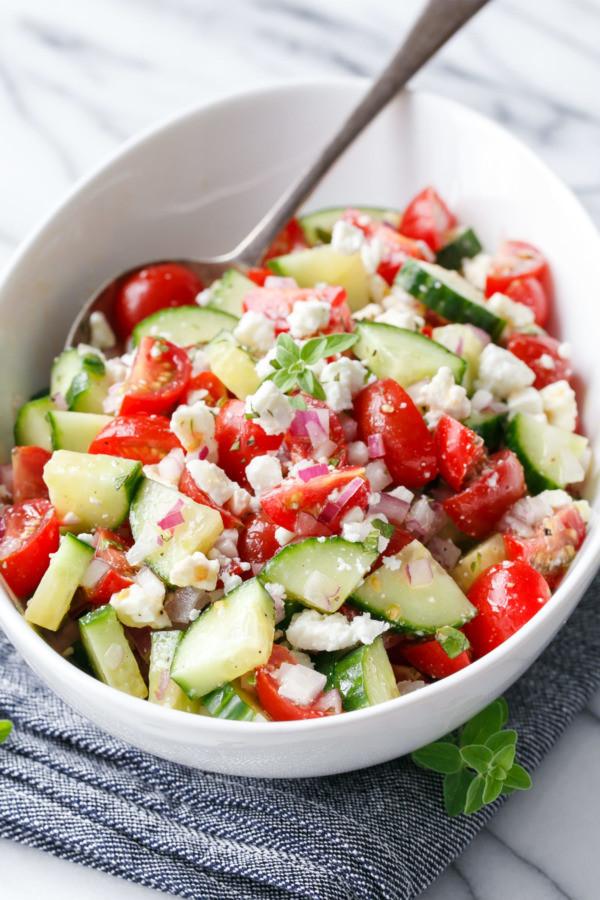 Cucumber Tomato Salad Recipe  tomato cucumber vinegar salad