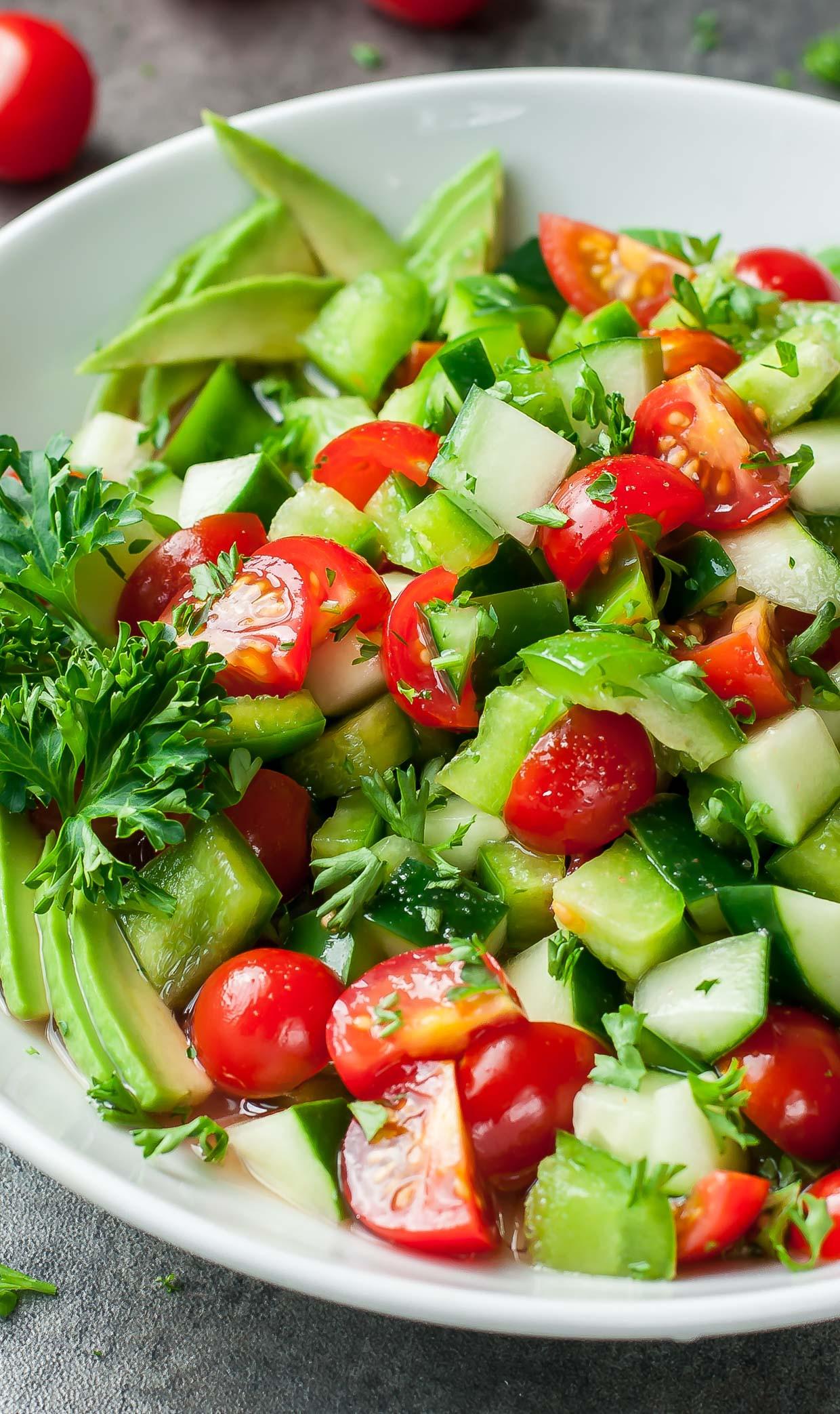 Cucumber Tomato Salad Recipe  Healthy Tomato Cucumber Salad Recipe Peas and Crayons