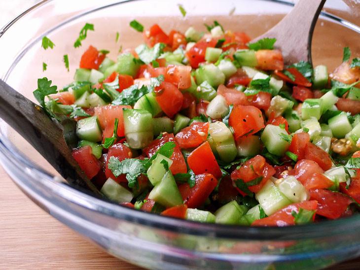 Cucumber Tomato Salad Recipe  Cooking Weekends Tomato & Cucumber Salad