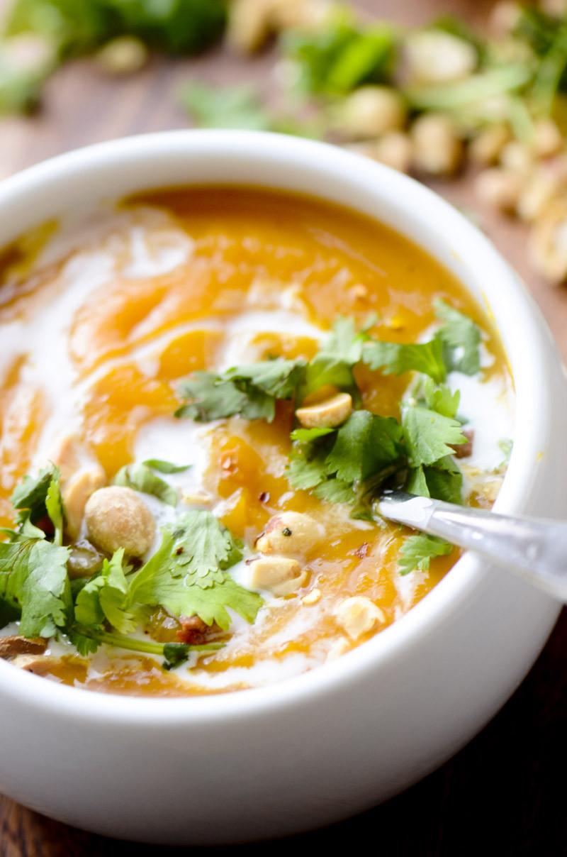 Curried Butternut Squash Soup  Thai Curried Butternut Squash Soup – Recipe Diaries