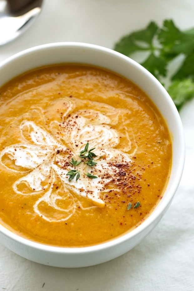Curried Butternut Squash Soup  Slow Cooker Curried Butternut Squash Soup Recipe