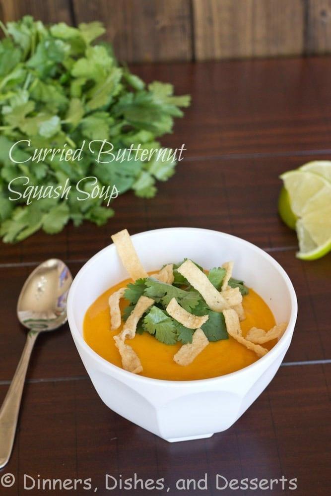 Curried Butternut Squash Soup  Curried Butternut Squash Soup