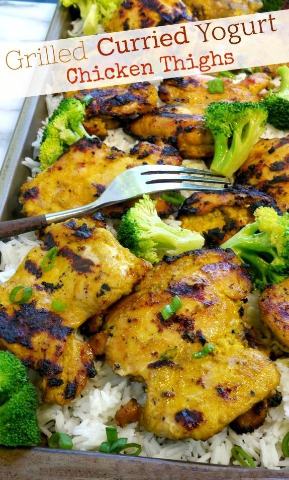 Curried Chicken Thighs  Grilled Curried Yogurt Chicken Thighs