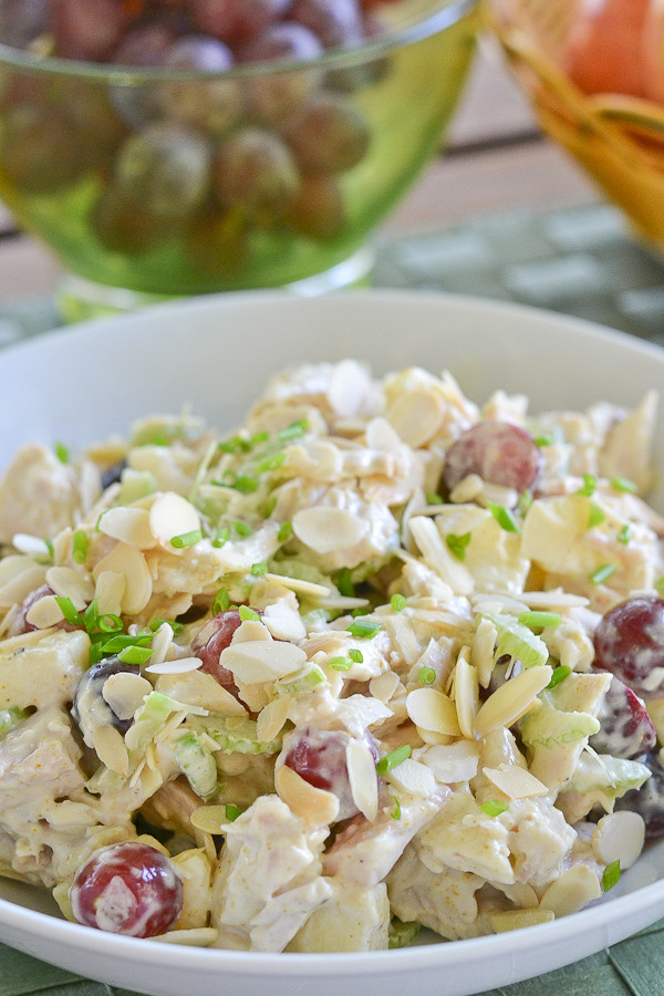 Curry Chicken Salad With Grapes  Curried Chicken Salad with Apples and Grapes Salu Salo