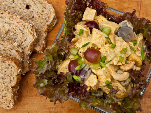 Curry Chicken Salad With Grapes  Curried Chicken Salad with Grapes and Cashews