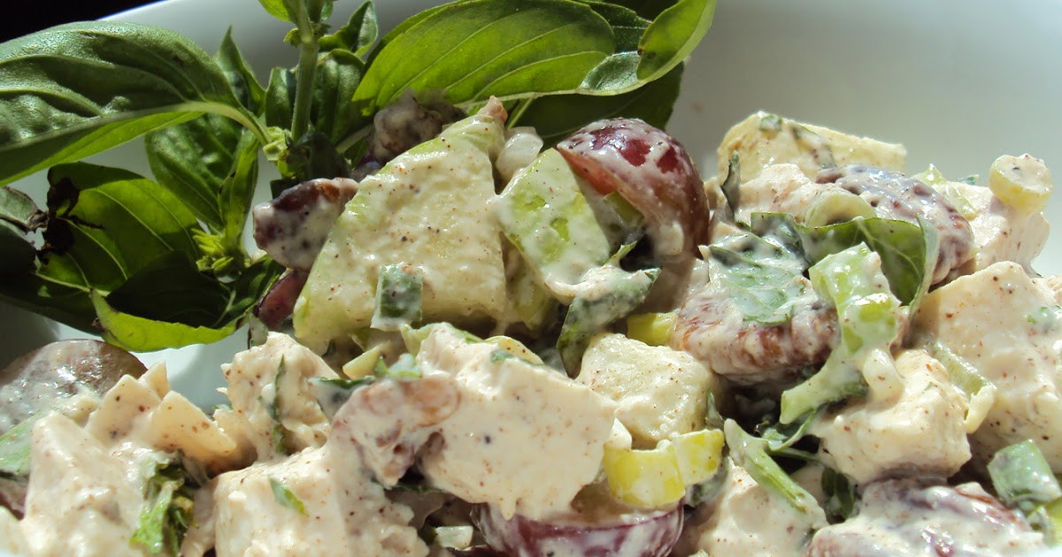 Curry Chicken Salad With Grapes  Scrumpdillyicious Curried Chicken Salad with Grapes