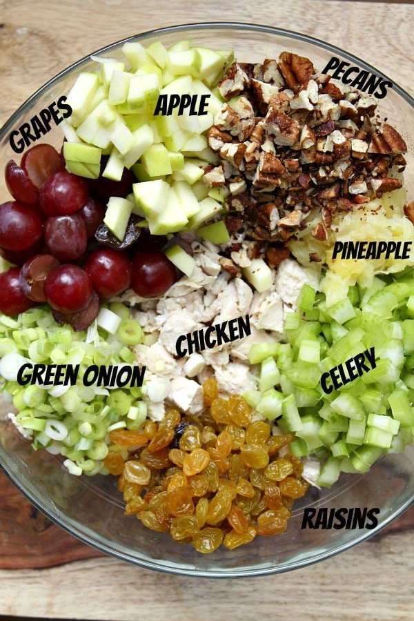 Curry Chicken Salad With Grapes  curry chicken salad with grapes and apples