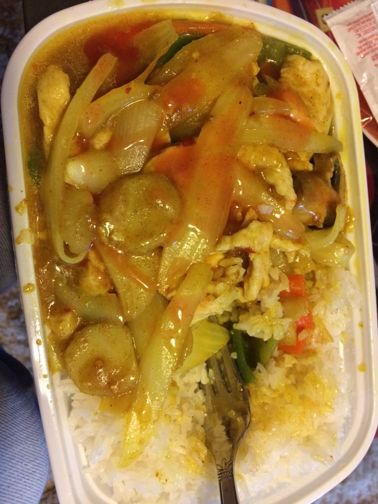 Curry Chicken With Onion  Curry chicken onion w white rice Yelp