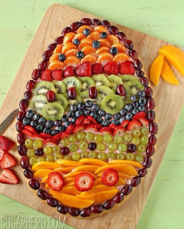 Cute Easter Appetizers  Easter Egg Fruit Appetizer s and