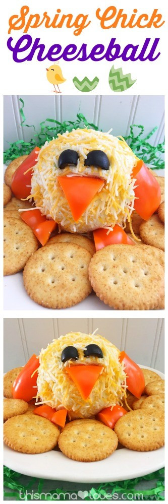 Cute Easter Appetizers  Easter Appetizer Chick Cheeseball Recipe