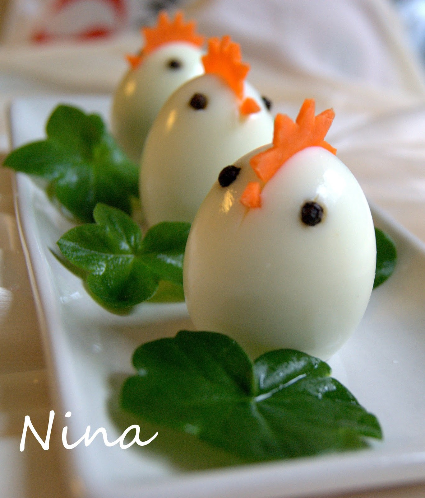 Cute Easter Appetizers  NINA S RECIPES CUTE EGGS APPETIZER EASTER IS