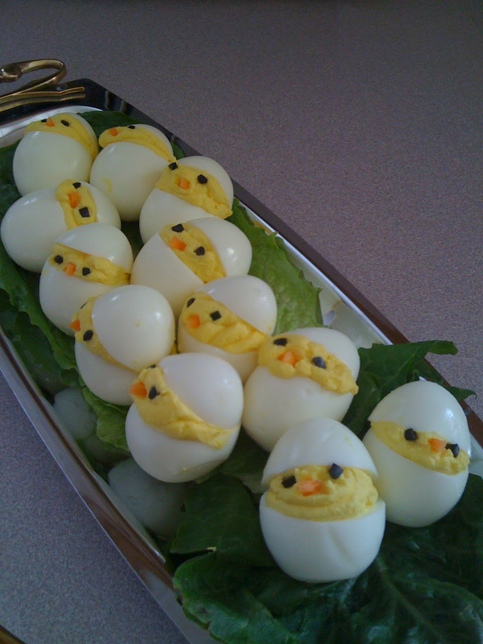 Cute Easter Appetizers  Chickadee Deviled Eggs