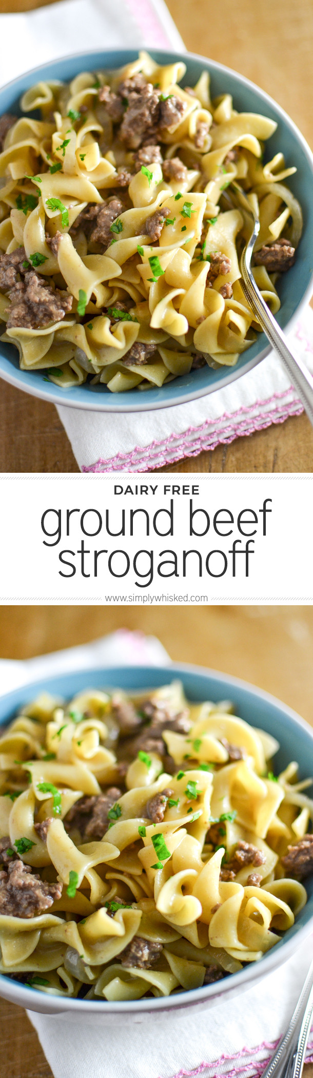 Dairy Free Beef Stroganoff  Ground Beef Stroganoff Simply Whisked