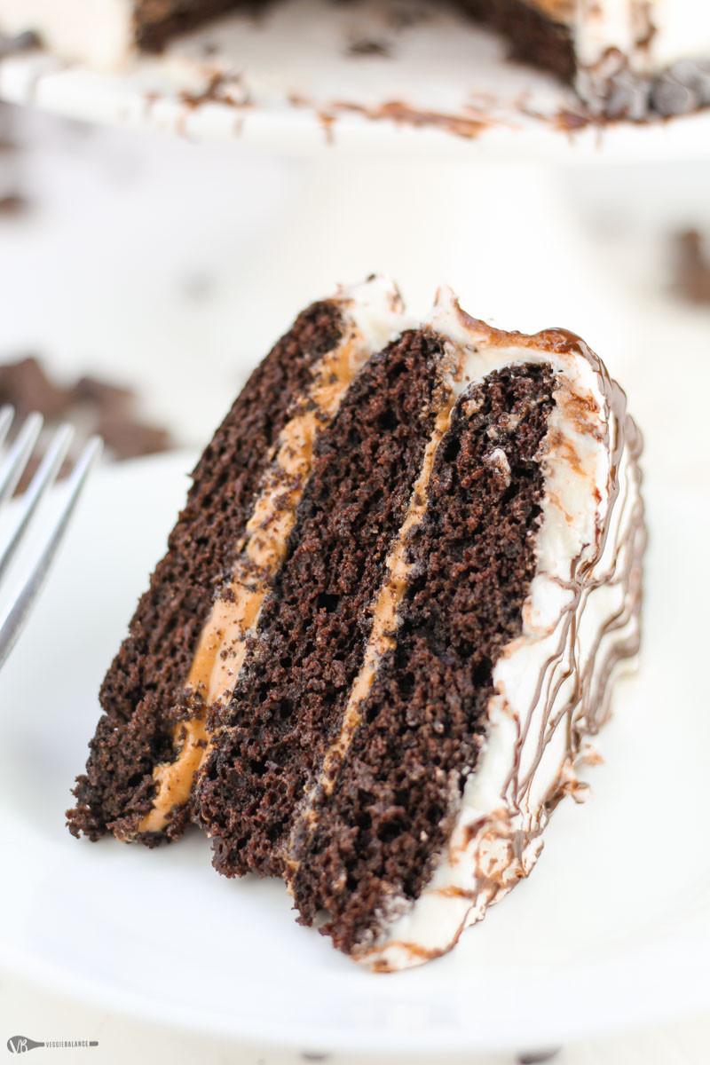 Dairy Free Chocolate Cake  Gluten Free Chocolate Cake with Peanut Butter VeggieBalance