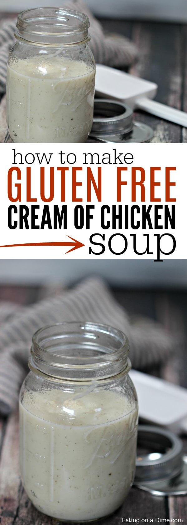 Dairy Free Cream Of Chicken Soup  Gluten Free Cream of Chicken Soup Recipe Gluten Free