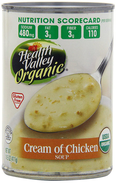 Dairy Free Cream Of Chicken Soup  Health Valley Gluten free Cream of Chicken Soup