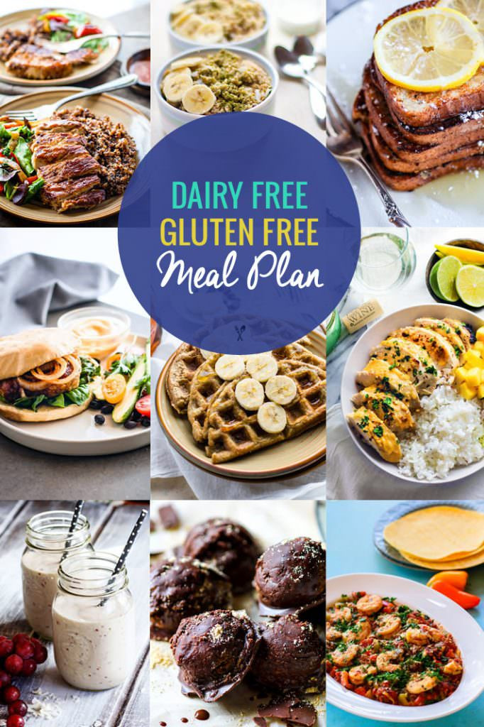 Dairy Free Dinner Recipes  Healthy Dairy Free Gluten Free Meal Plan Recipes